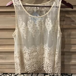 Tops - Tan lace top, from boutique in Austin, TX